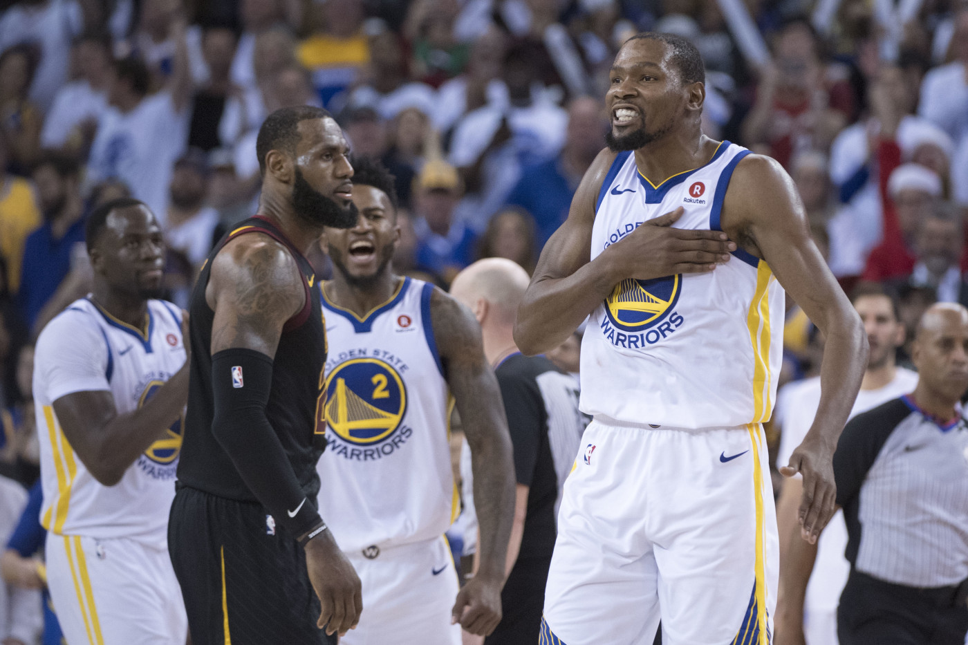 Kevin Durant Cavs Warriors Christmas 2017