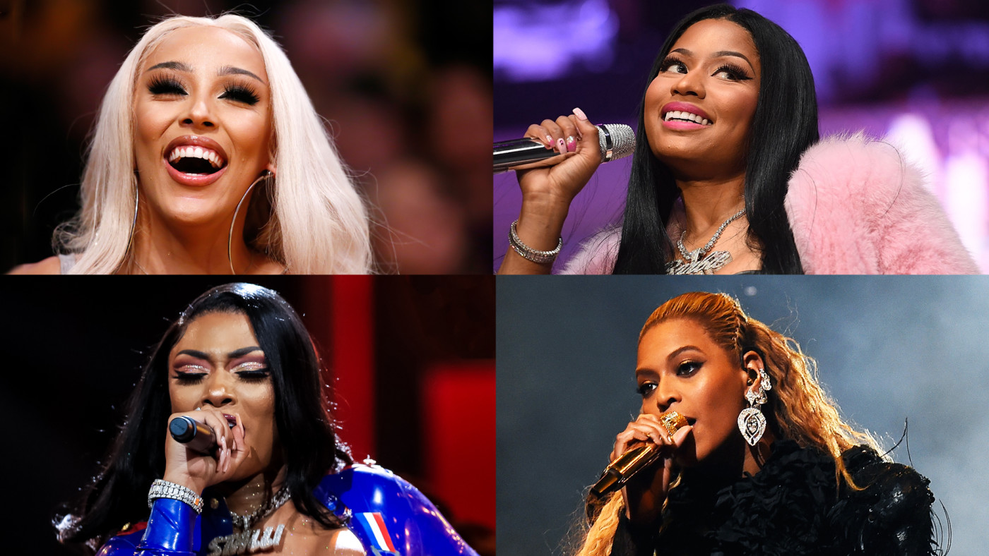 Doja Cat, Nicki Minaj, Megan Thee Stallion, Beyonce