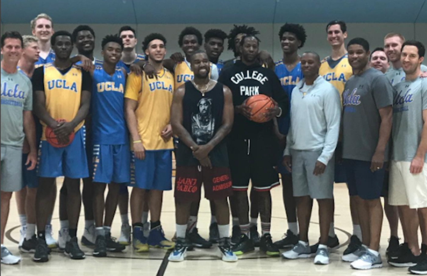Kanye West And 2 Chainz Balled Out With The Ucla Bruins Basketball Team Complex