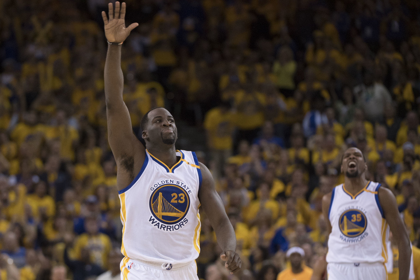 Draymond Green Kevin Durant Game 1 Warriors Blazers 2017