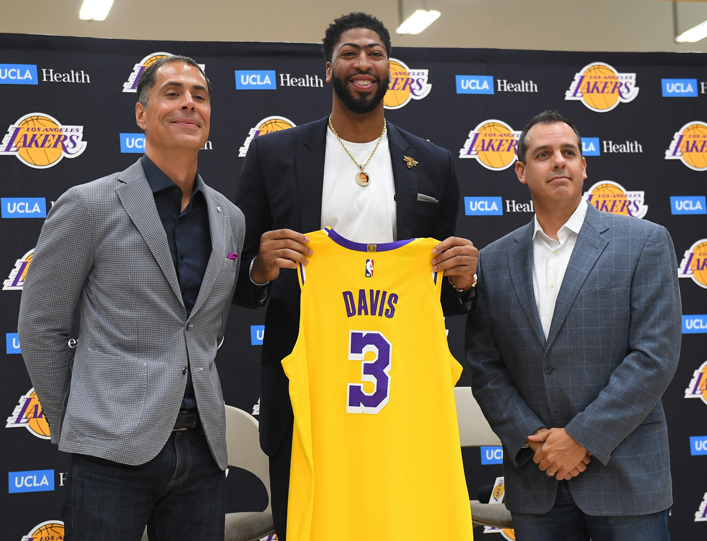 Anthony Davis Pelinka Vogel 2019 Press Conf