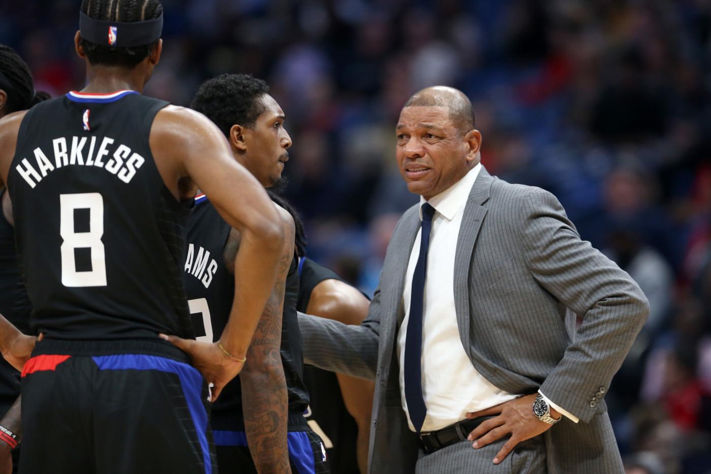 Doc Rivers Moe Harkless Clippers Pelicans Nov 2019