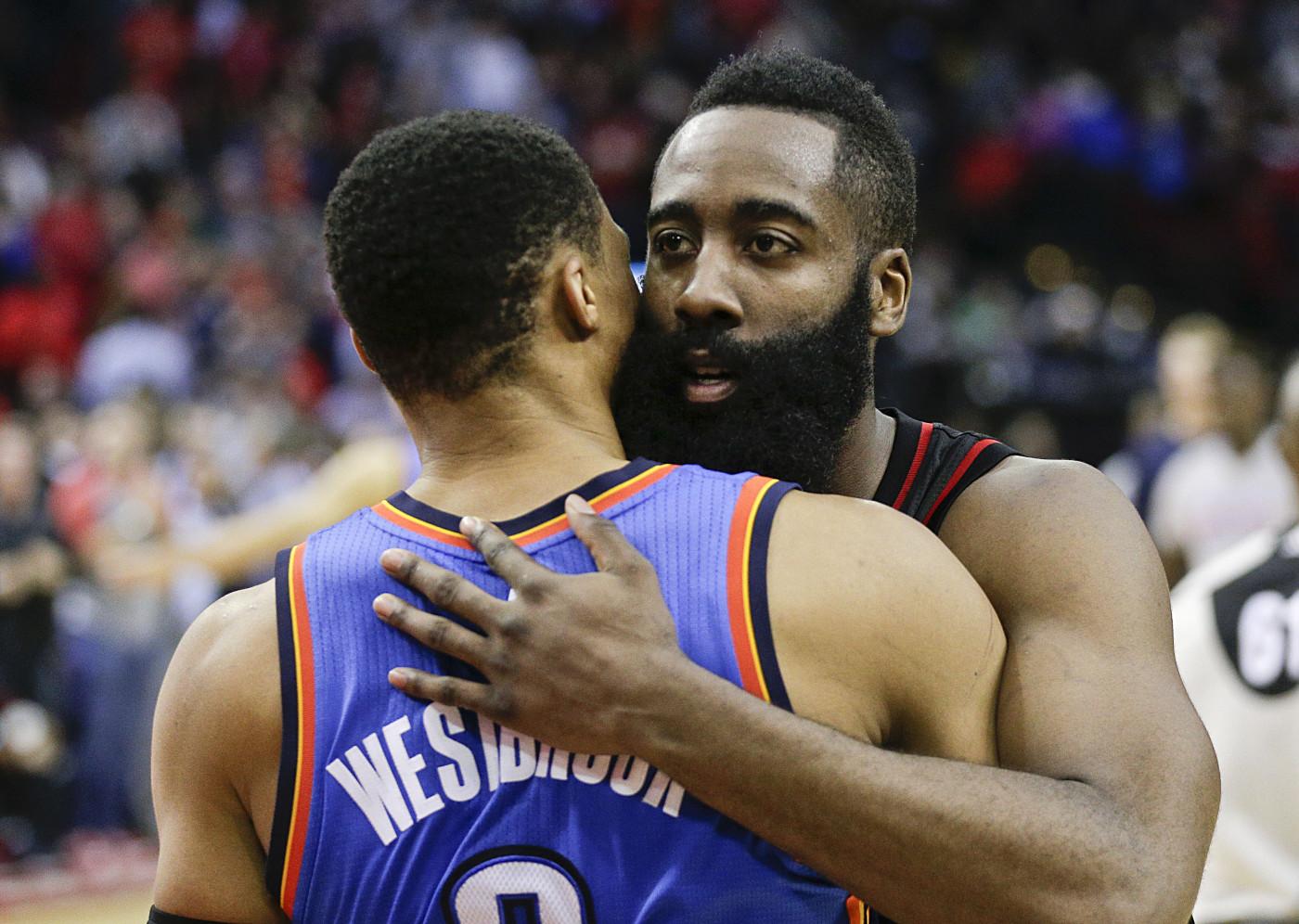 Westbrook Harden Thunder Rockets January 2017