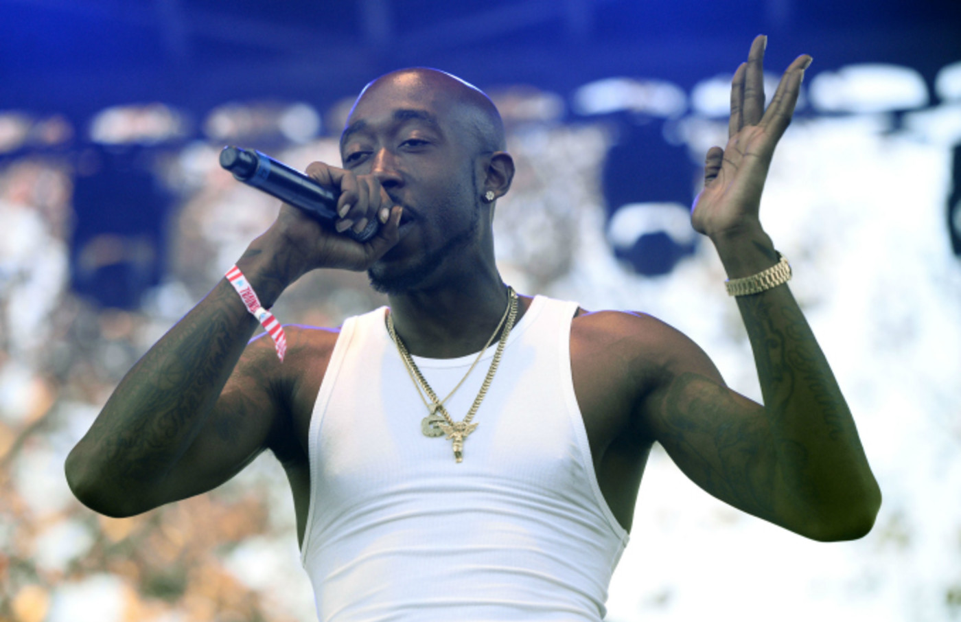 Rapper Freddie Gibbs performs onstage at the 3rd Annual Camp Flog Gnaw Carnival