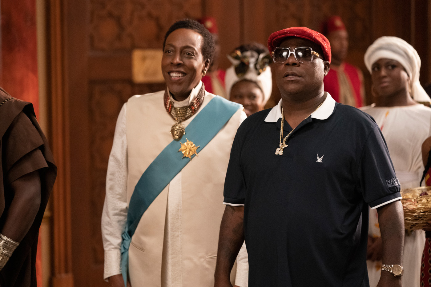 Arsenio Hall and Tracy Morgan in 'Coming 2 America'