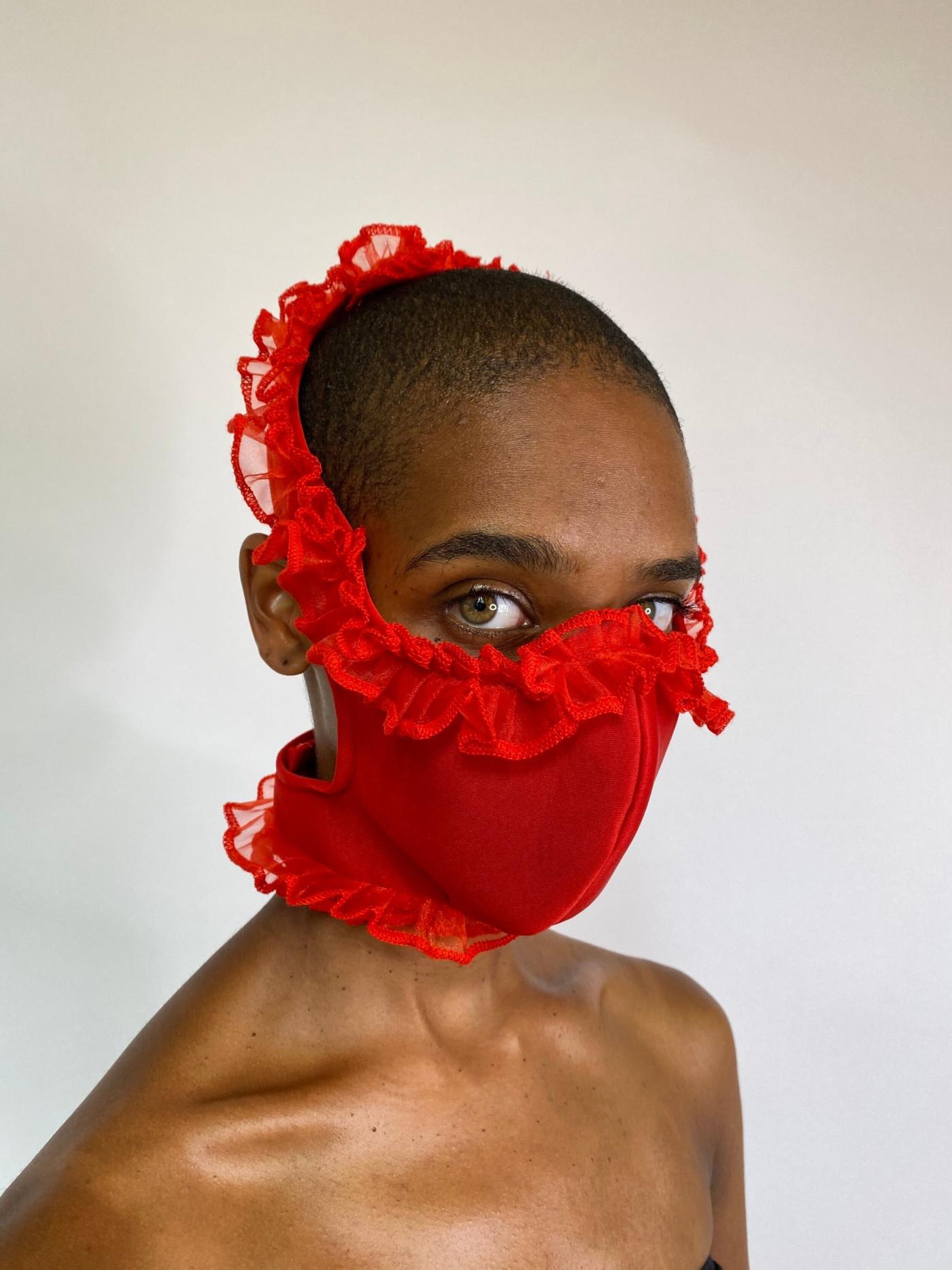 Ruffle Mask by Tia Adeola