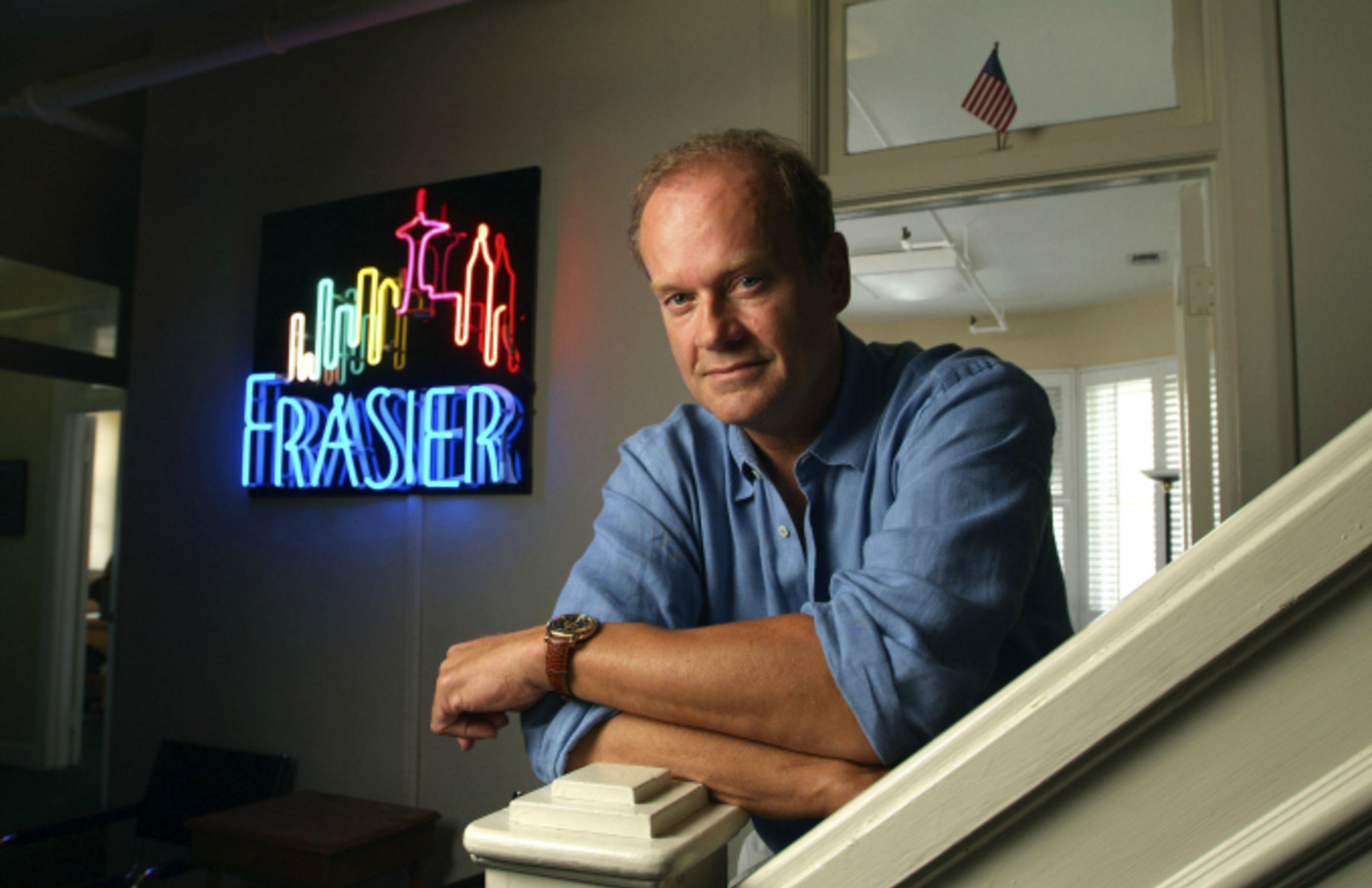 Kelsey Grammer in his office