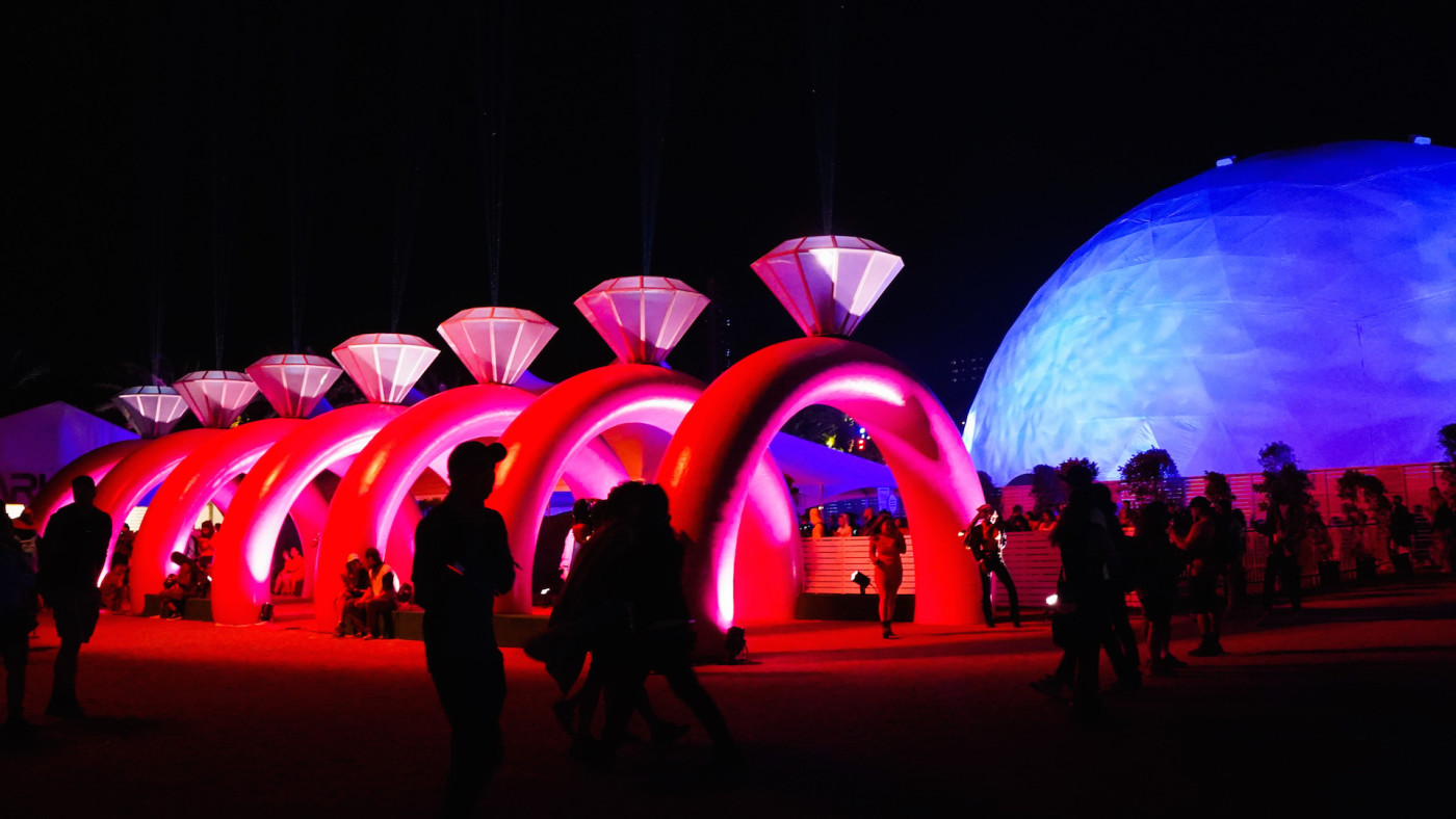 Festival atmosphere during the 2019 Coachella Valley Music And Arts Festival