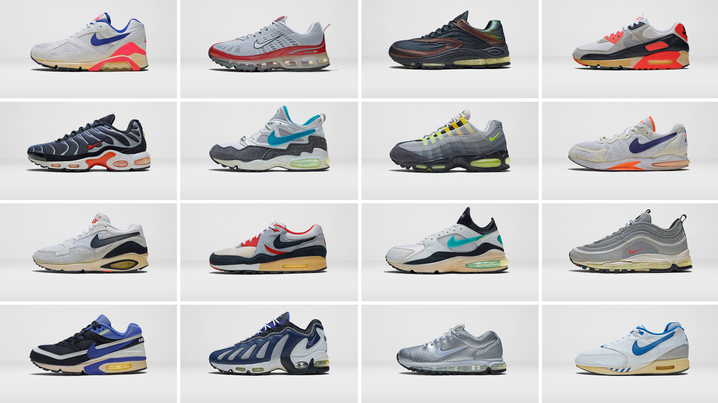 Nike's Air Max archive of original Air Max sneakers.
