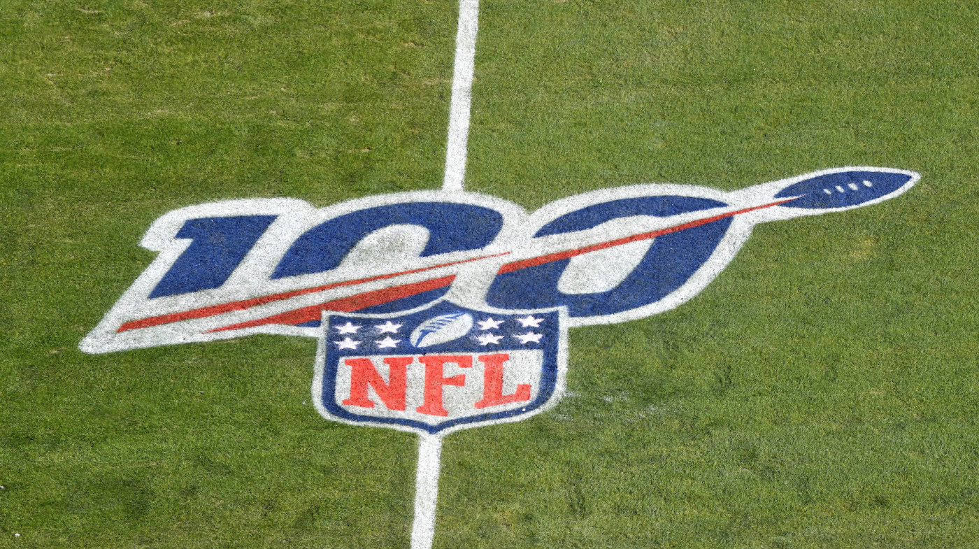The NFL 100 year anniversary logo