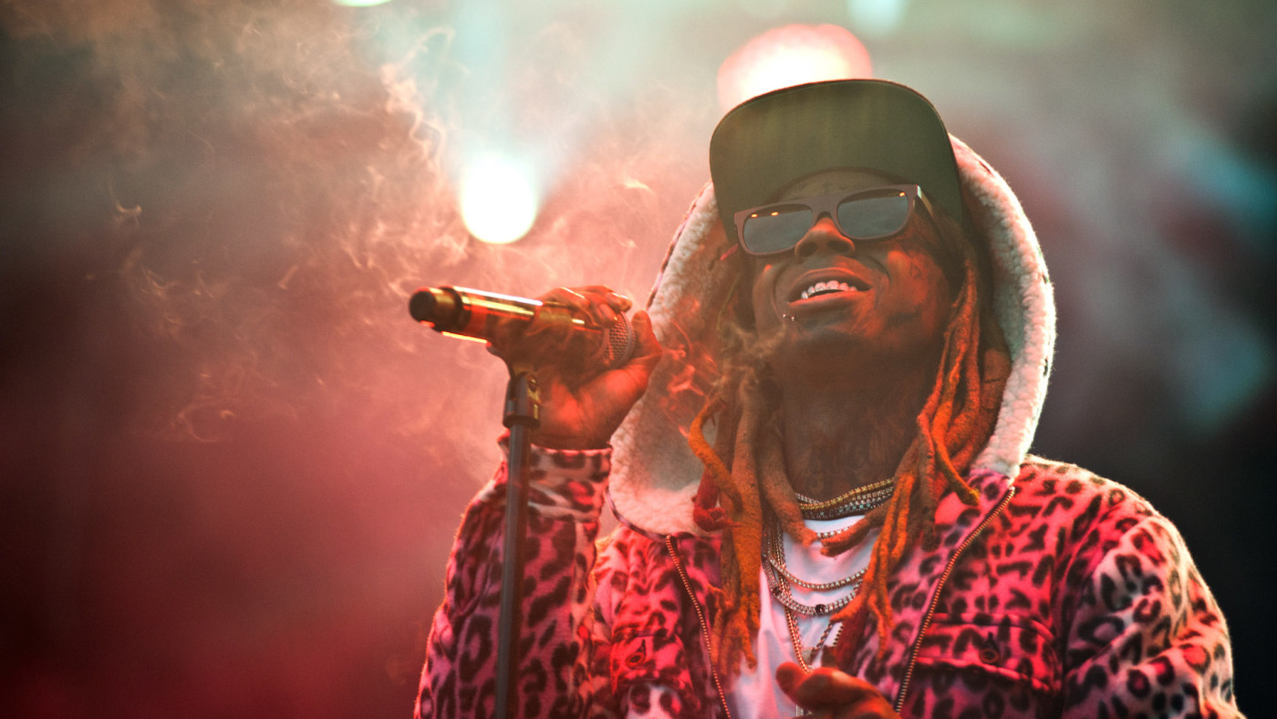 Lil Wayne performs on day one of the 2018 Bumbershoot Festival