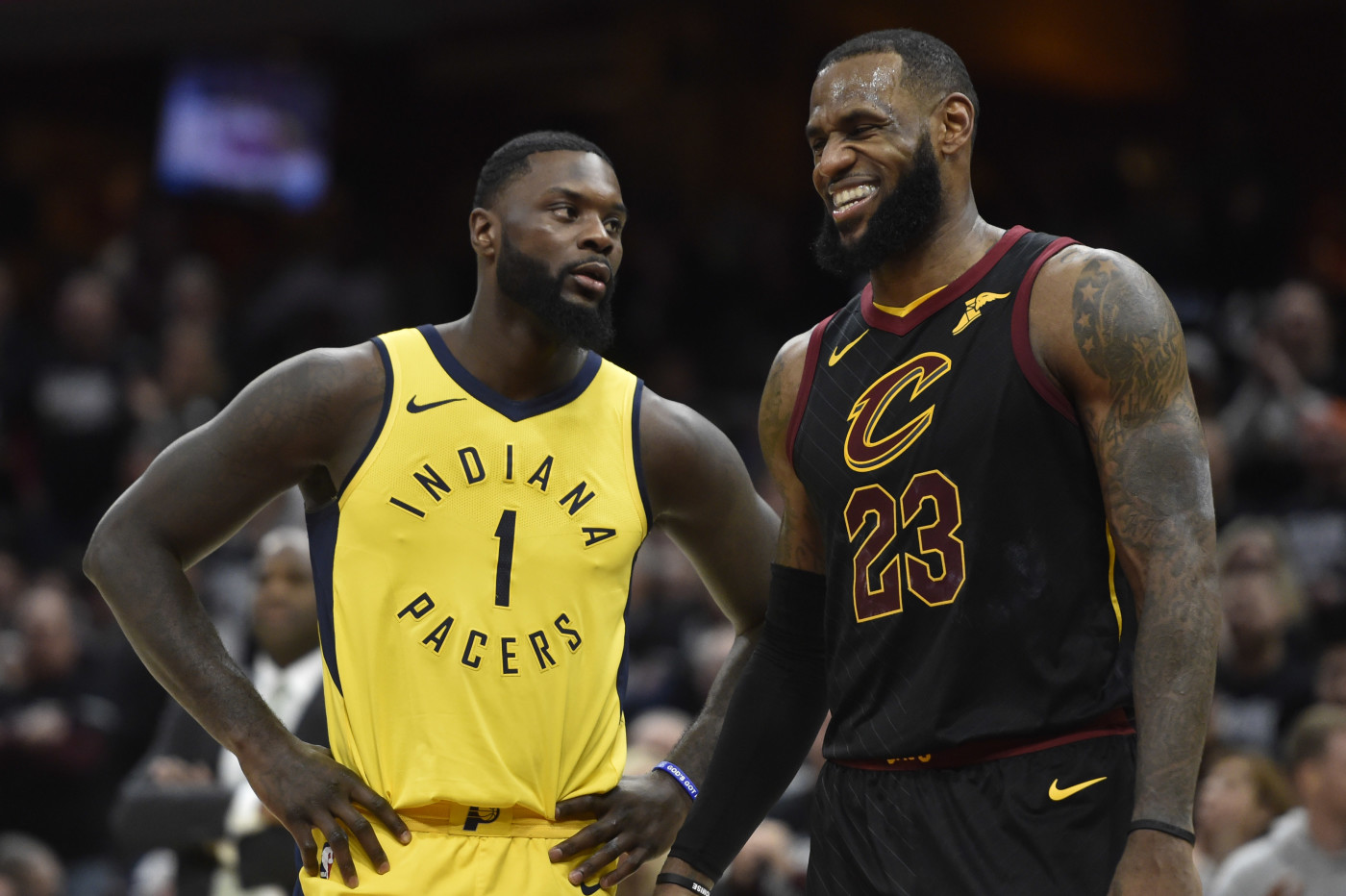 LeBron James Lance Stephenson Game 1 2018 NBA Playoffs