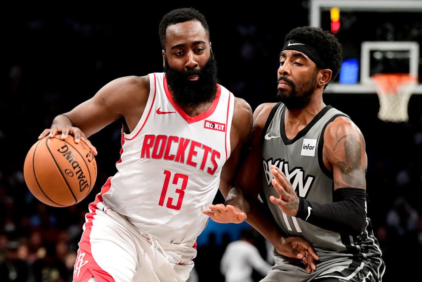 James Harden Kyrie Irving Rockets Nets Brooklyn 2019