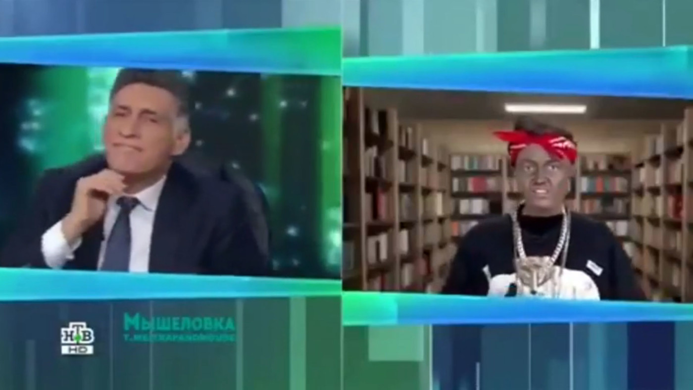 Russian TV Obama blackface skit.