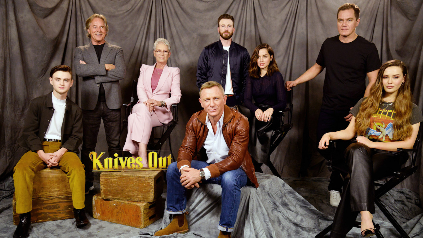 """""""Knives Out"""" cast attends photocall."""