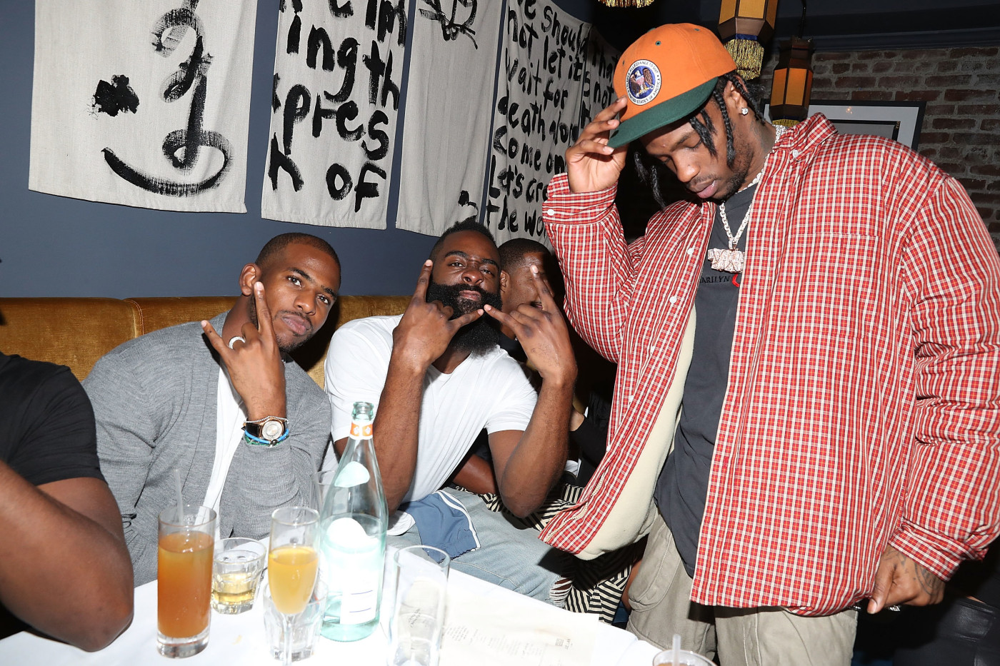Chris Paul, James Harden & Travis Scott at Jue Lan Club NYC
