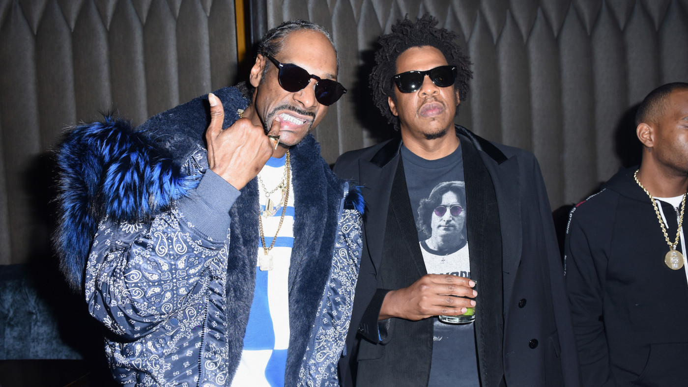 Snoop Dogg and Jay-Z attend the PUMA x Nipsey Hussle 2019 Grammy Nomination Party.
