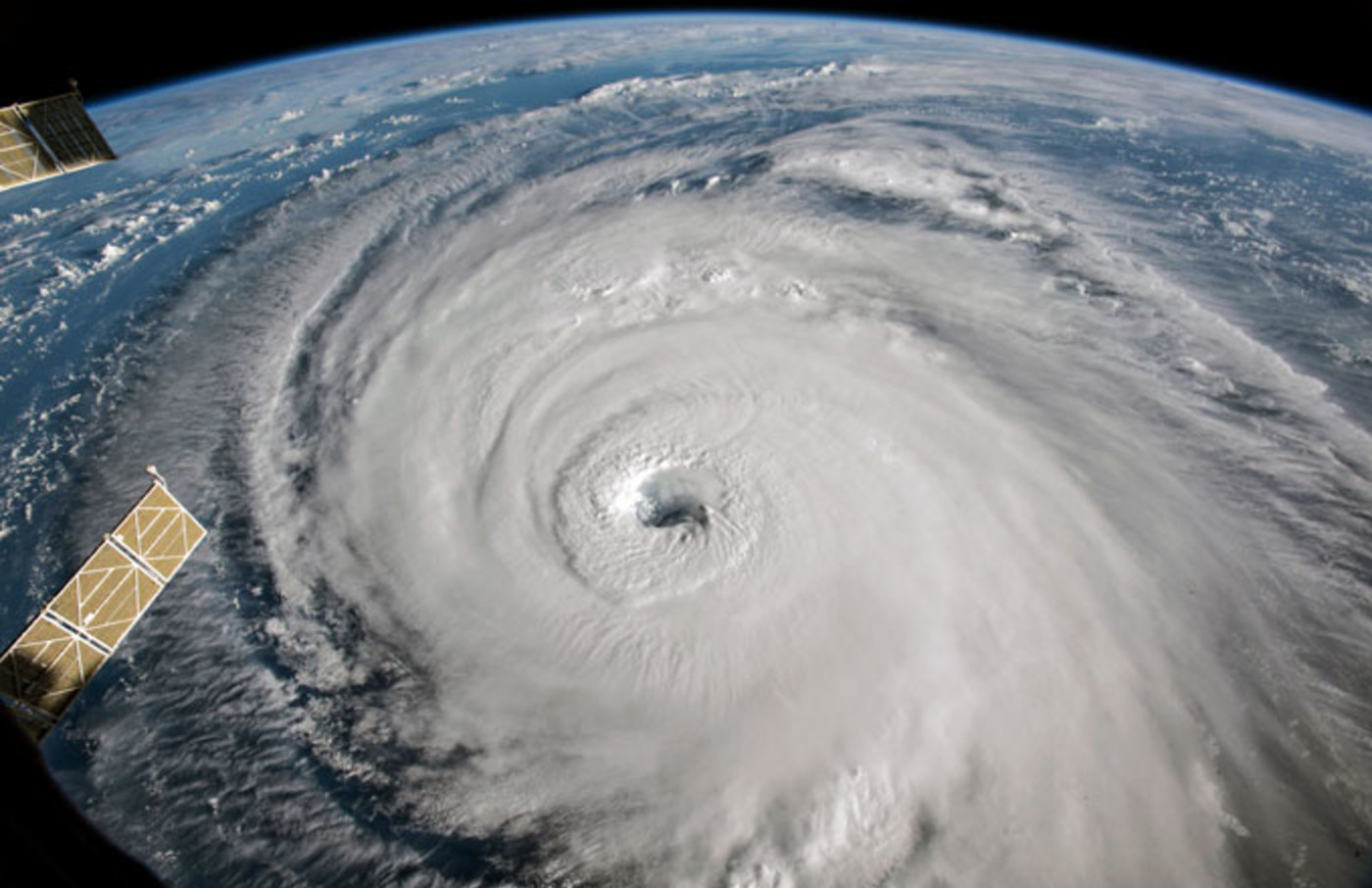 A satellite shot of Hurricane Florence