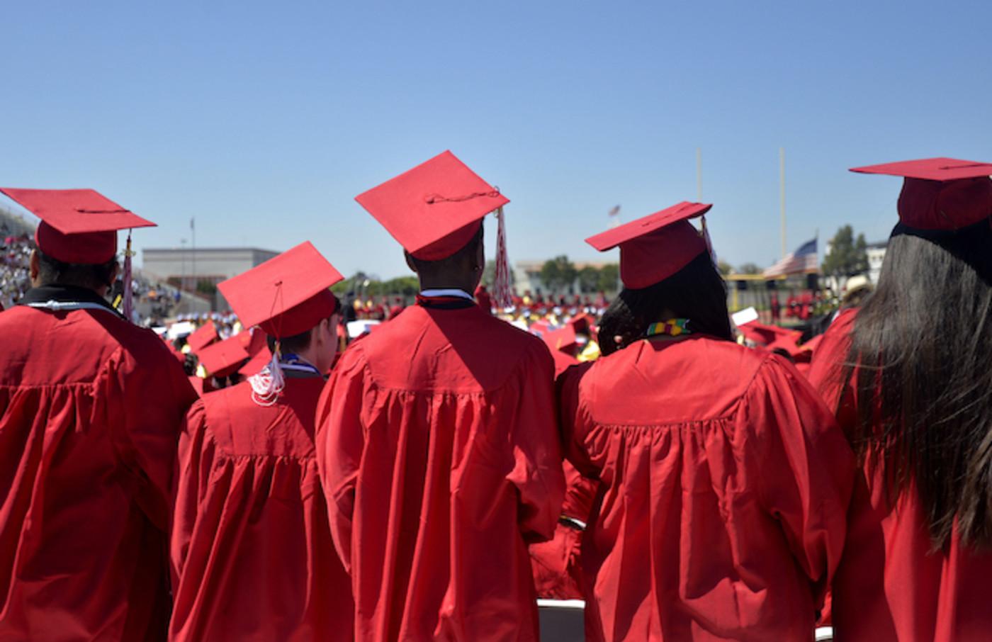 Lakewood High School students enjoy their graduation ceremony.