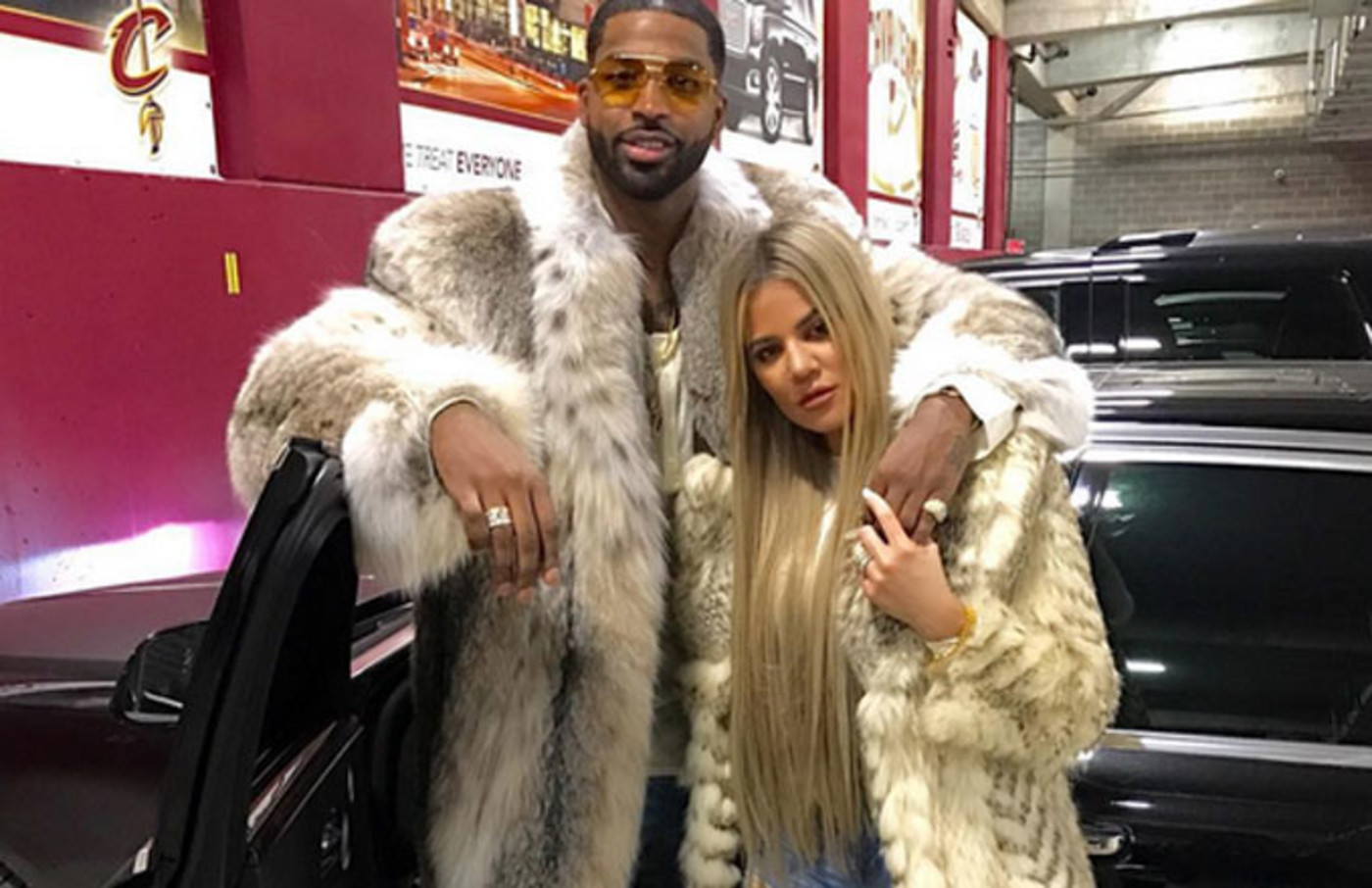 An Instagram pic of Khloe Kardashian and Tristan Thompson.