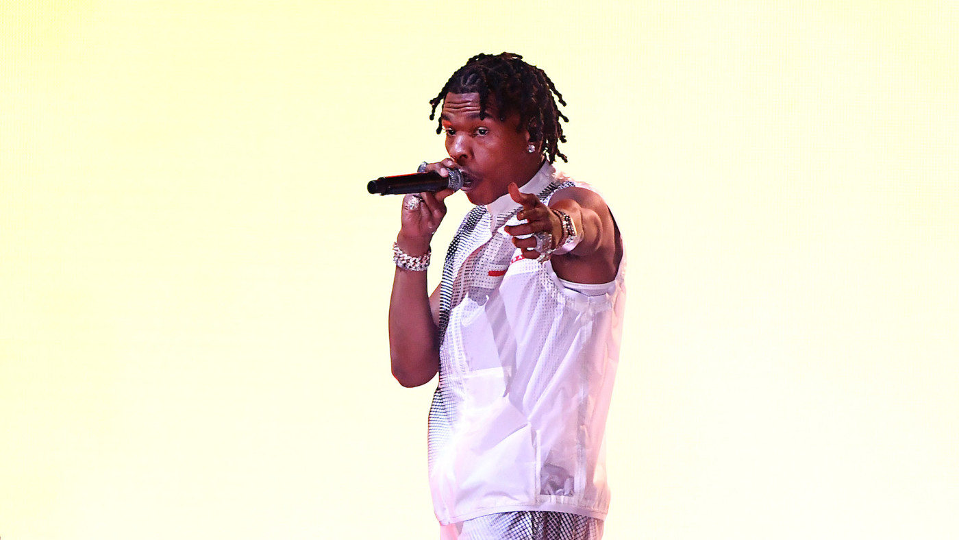 Lil Baby performs onstage for the 2020 American Music Awards at Microsoft Theater