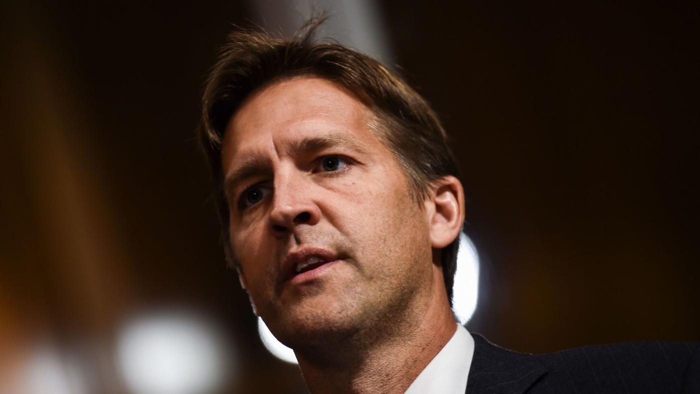 Senator Ben Sasse (R-NE) looks on during a markup hearing