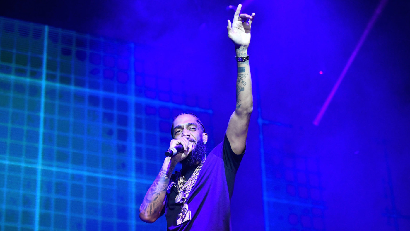 Nipsey Hussle performs onstage during the Power 106 Powerhouse festival