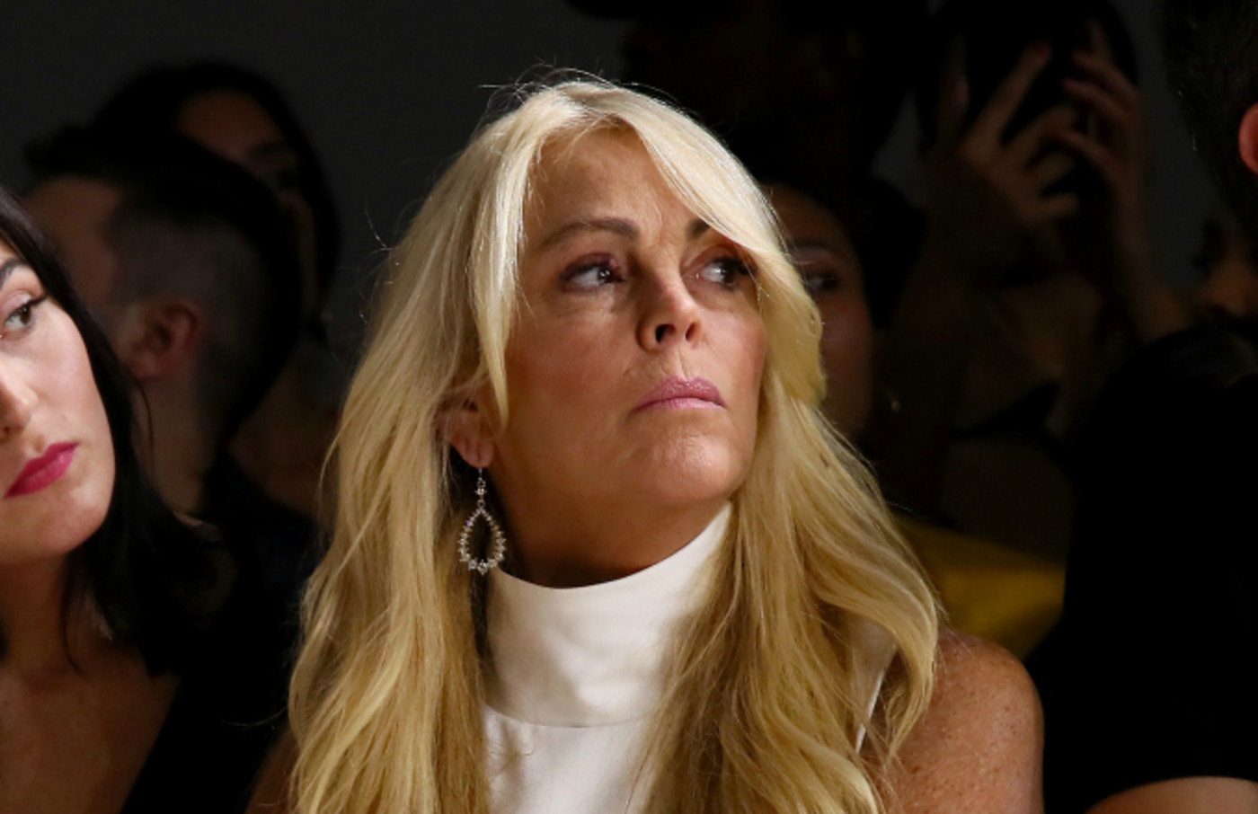 Dina Lohan attends the Vivienne Hu front row during New York Fashion Week