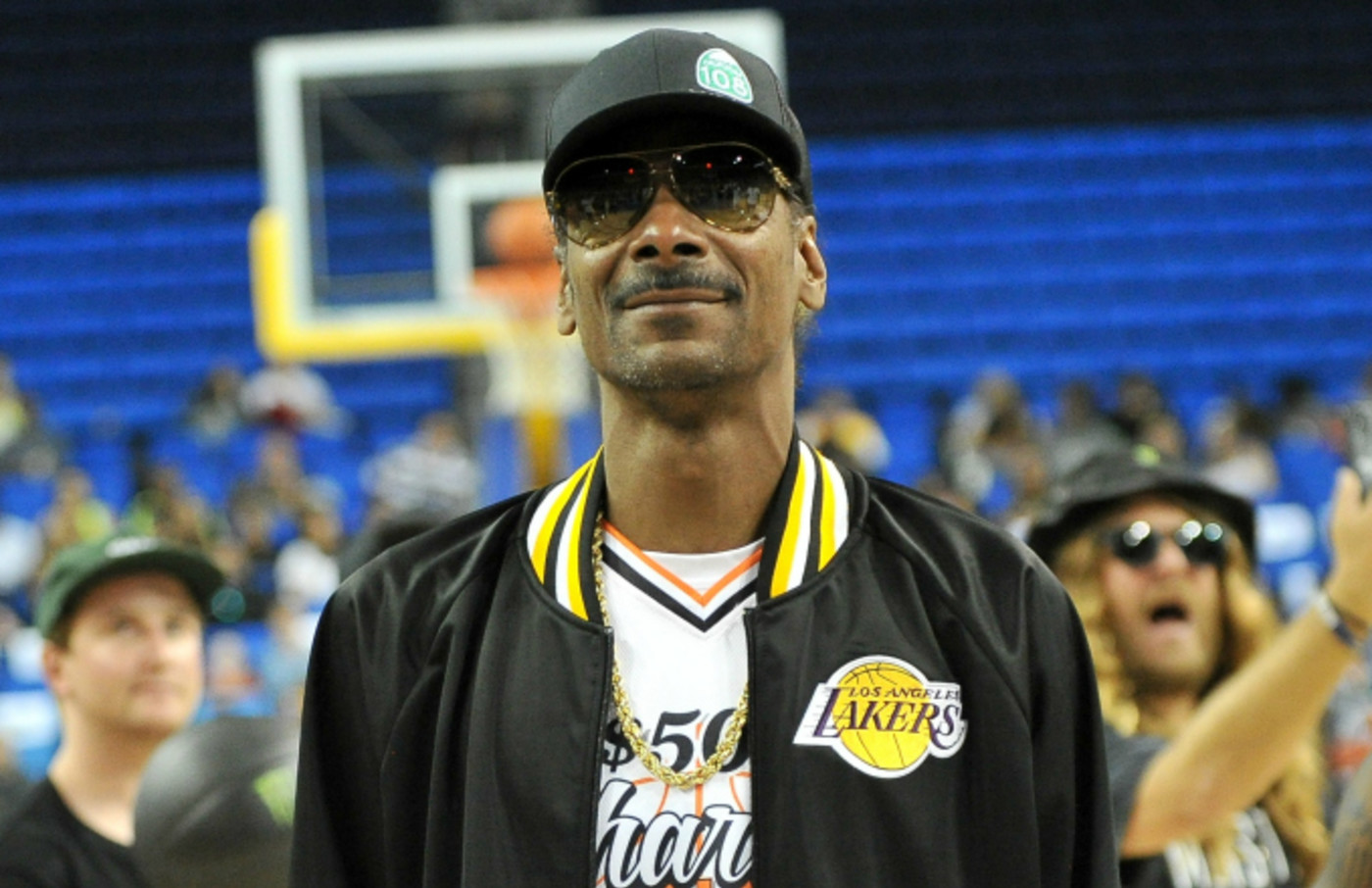 Snoop Dogg attends the Monster Energy $50K Charity Challenge Celebrity Basketball Game