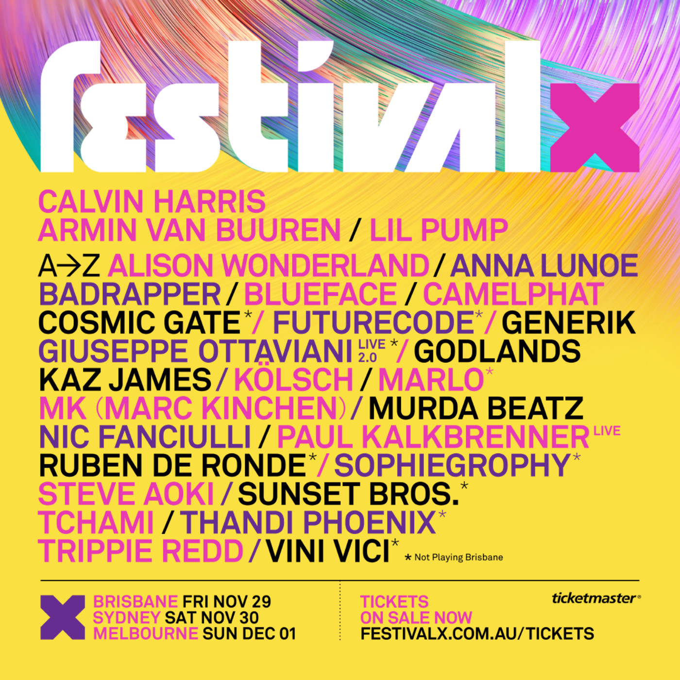 Festival X flier