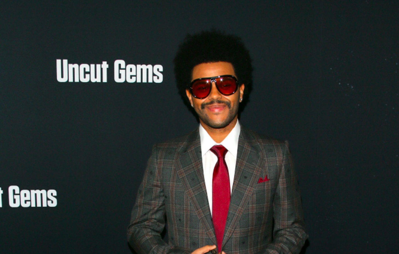 "The Weeknd at the premiere of A24's ""Uncut Gems"""
