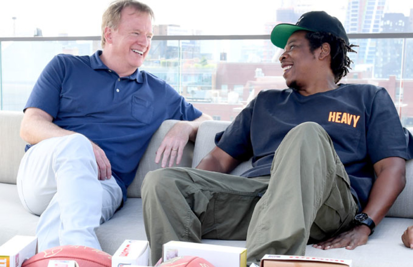 Roger Goodell and Jay-Z