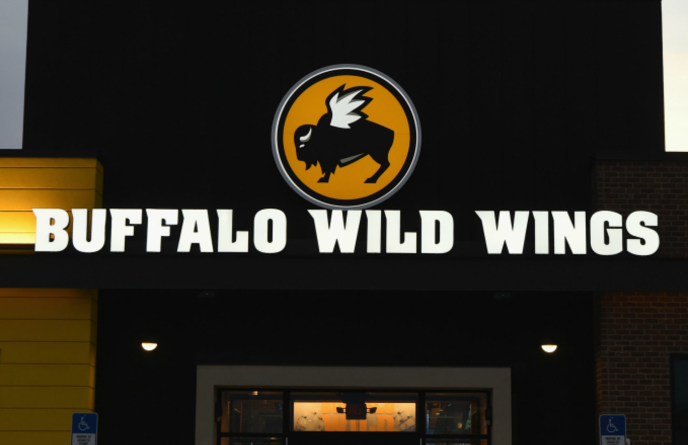 A Buffalo Wild Wings restaurant is seen on February 1, 2018