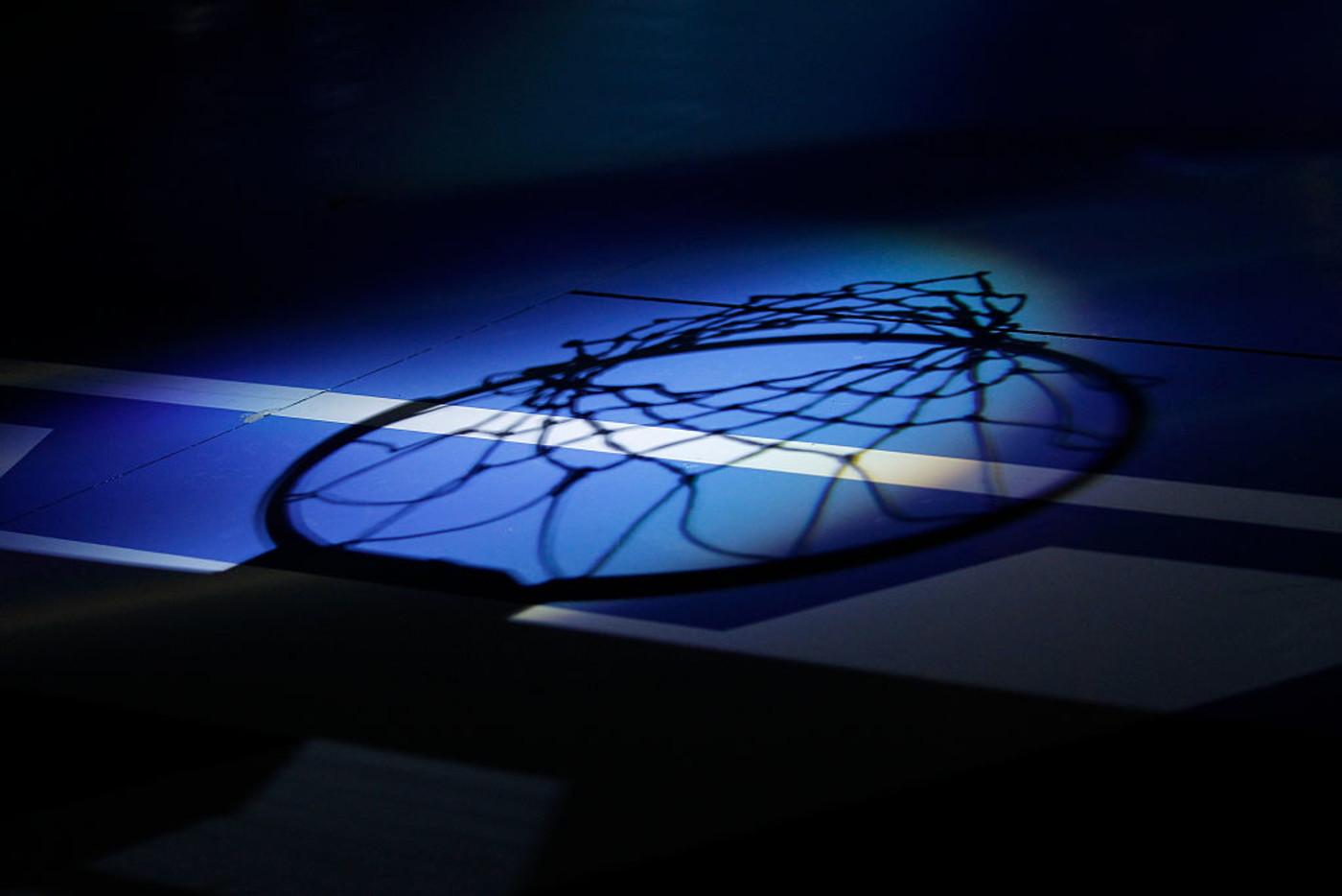 Basketball Court Blue Net Shadow-2017