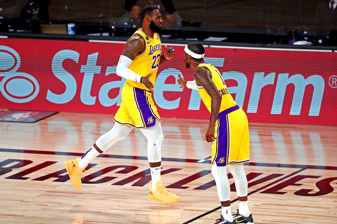 LeBron James Kentavious Caldwell-Pope Game 4 NBA Finals