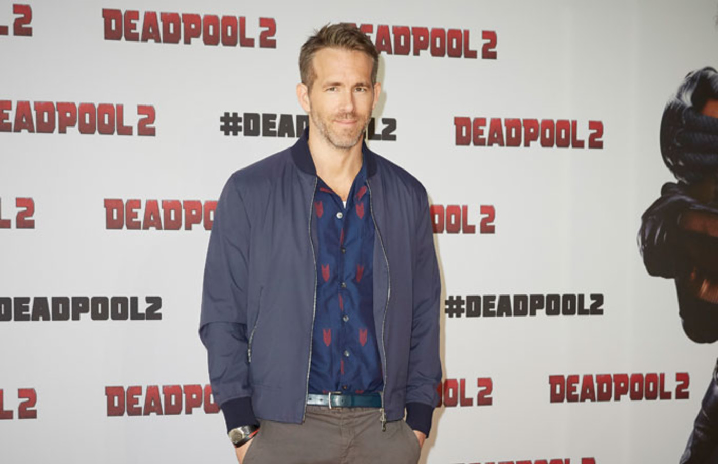 Ryan Reynolds attends a 'Deadpool 2' press conference