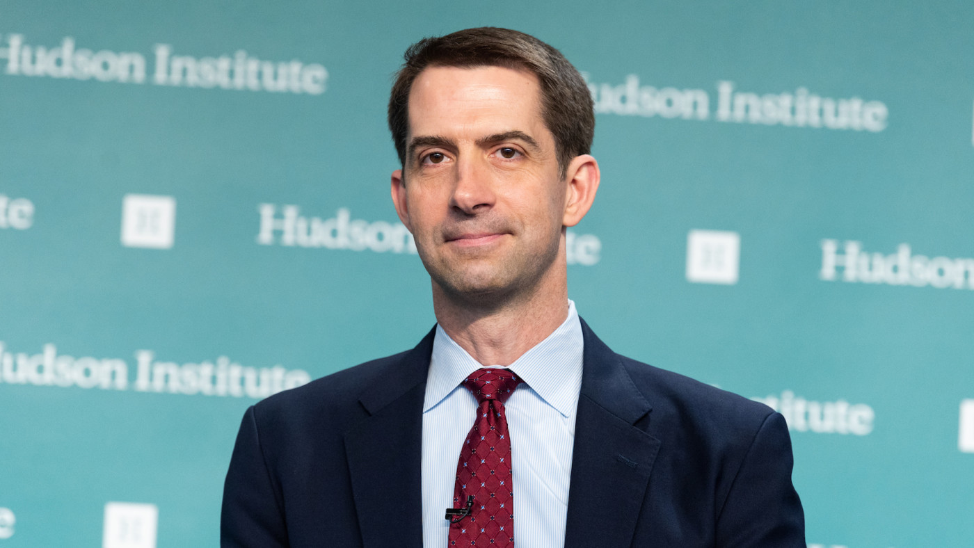 "U.S. Senator Tom Cotton speaks about his new book ""Sacred Duty."""