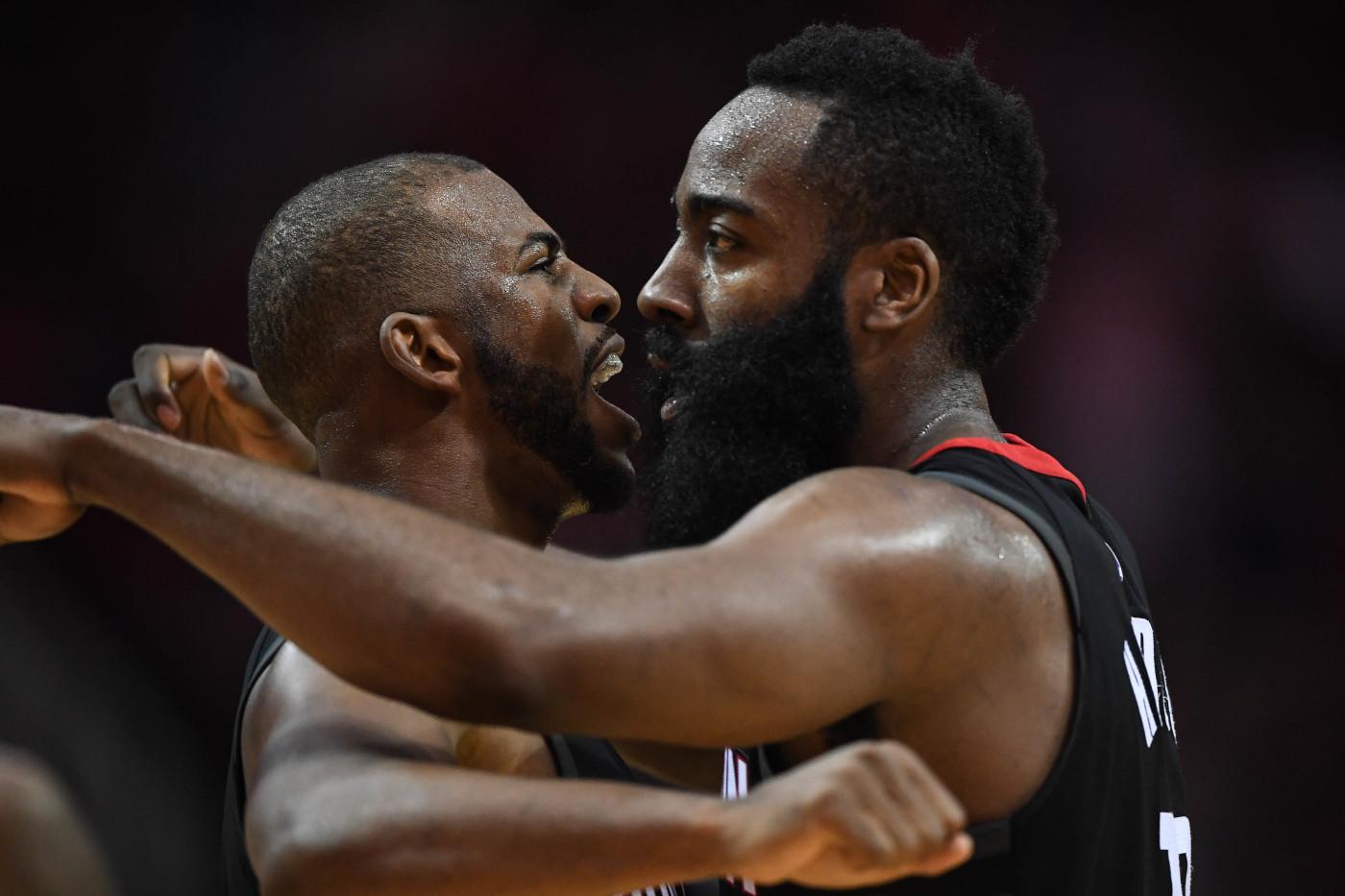 Chris Paul James Harden Rockets Pelicans 2017