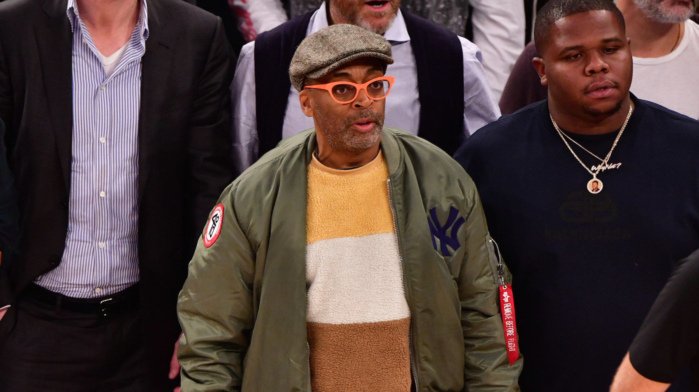 Spike Lee attends Houston Rockets v New York Knicks