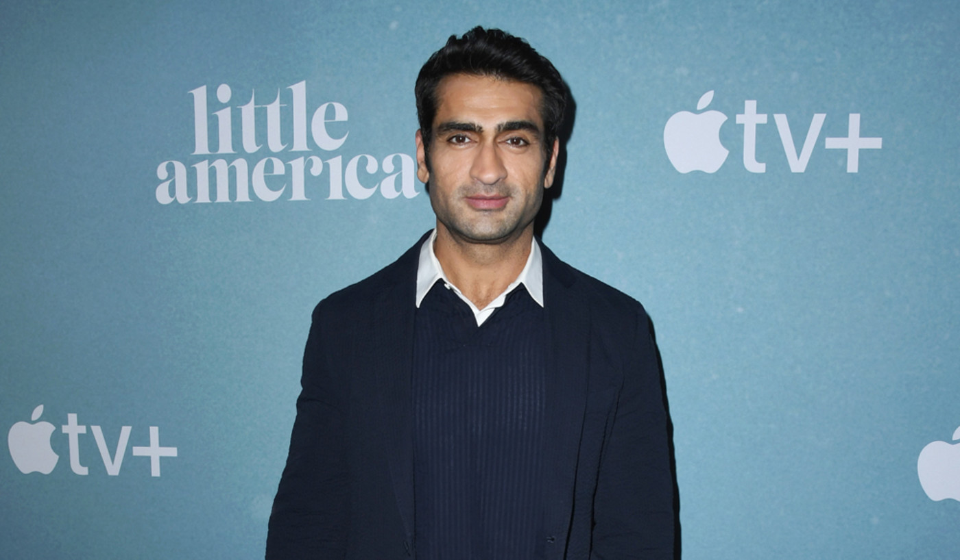 "Kumail Nanjiani attends the premiere of Apple TV+'s ""Little America"""