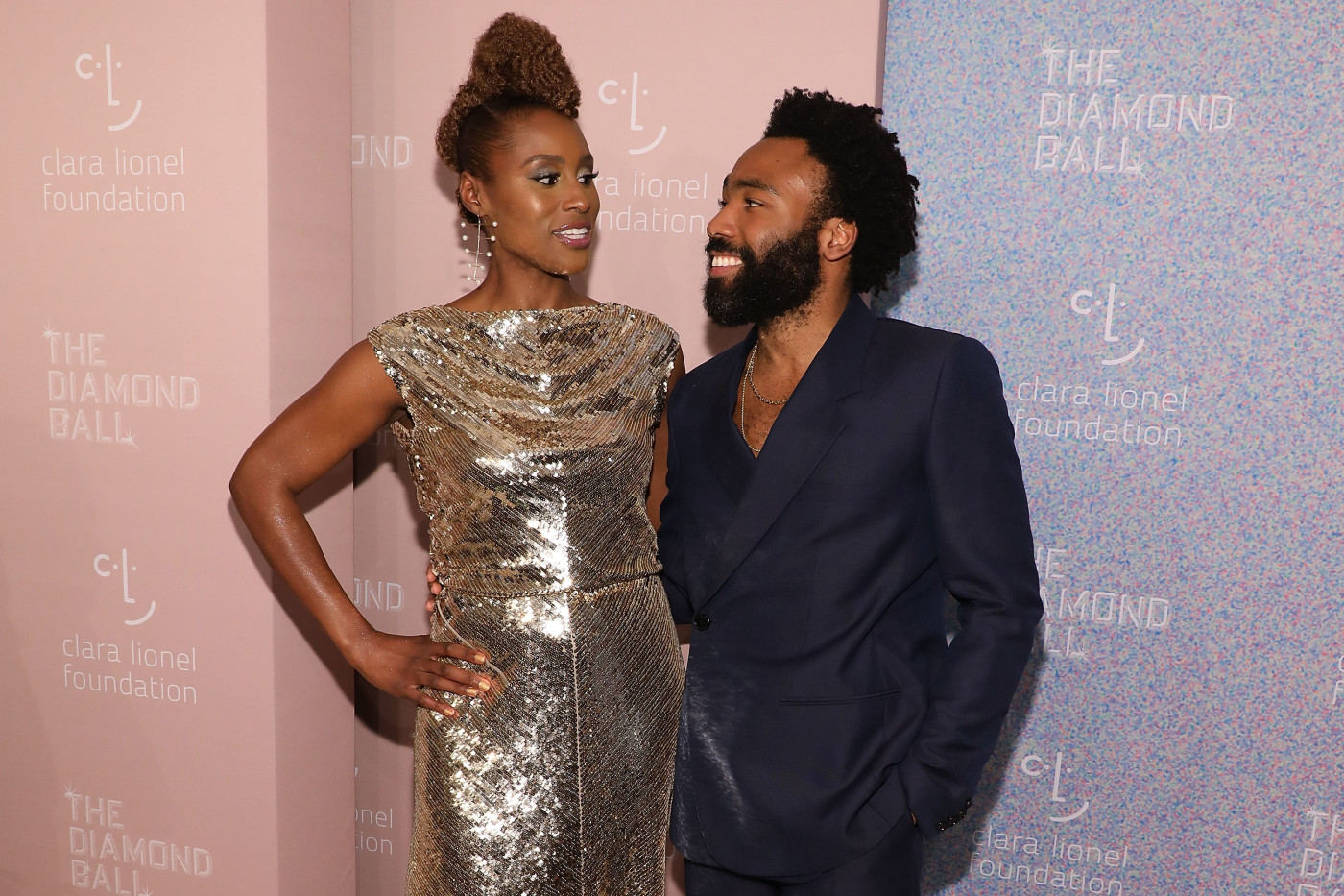 Issa Rae and Donald Glover attend the 2018 Diamond Ball