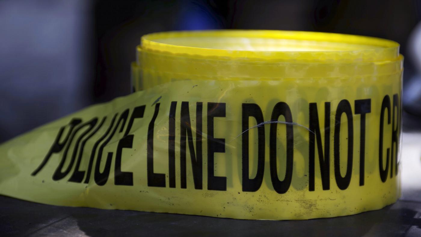 Roll of crime scene tape is unused