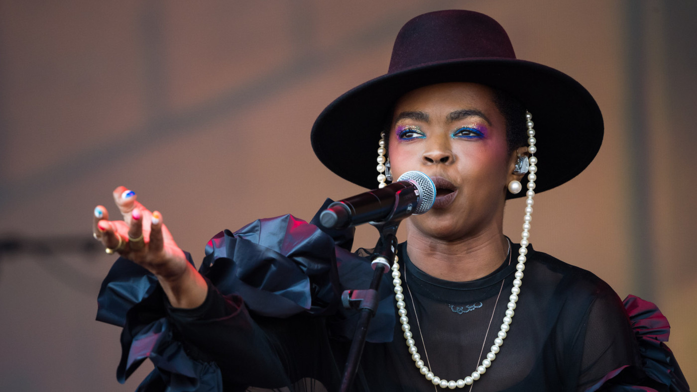 Lauryn Hill performs on stage during day three of the Glastonbury Festival.