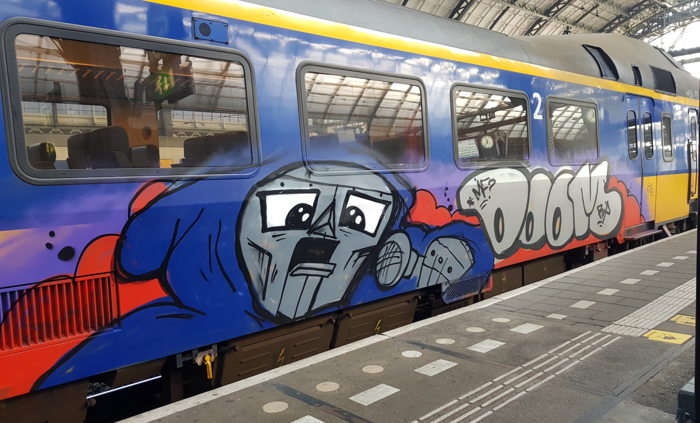 MF Doom Graffiti Train