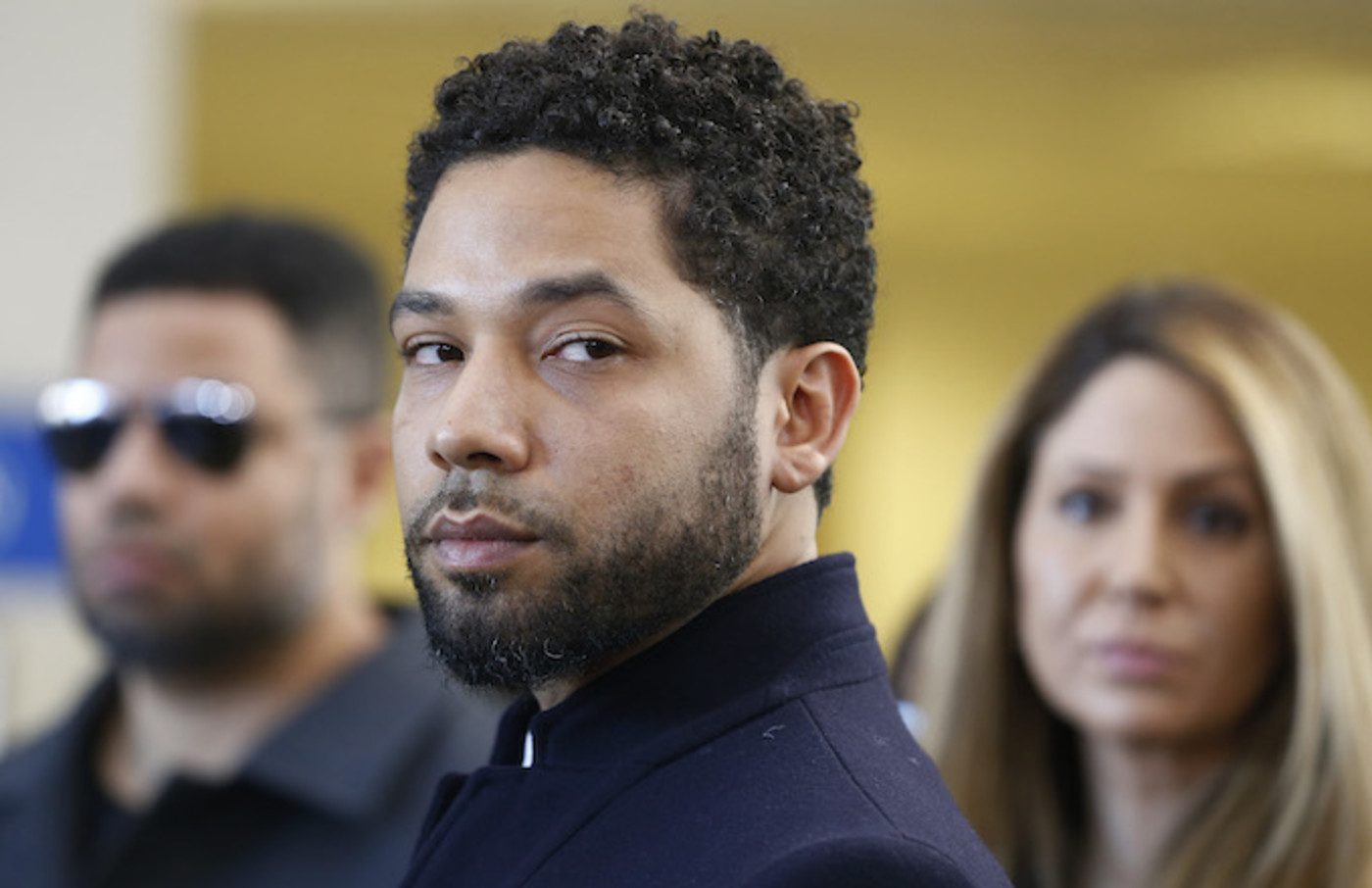 Jussie Smollett after his court appearance at Leighton Courthouse.