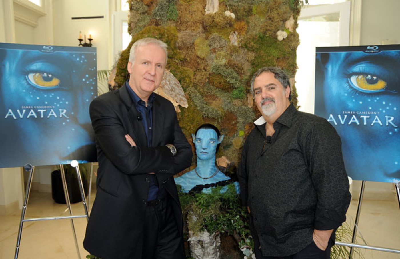 Avatar director James Cameron with producer Jon Landau