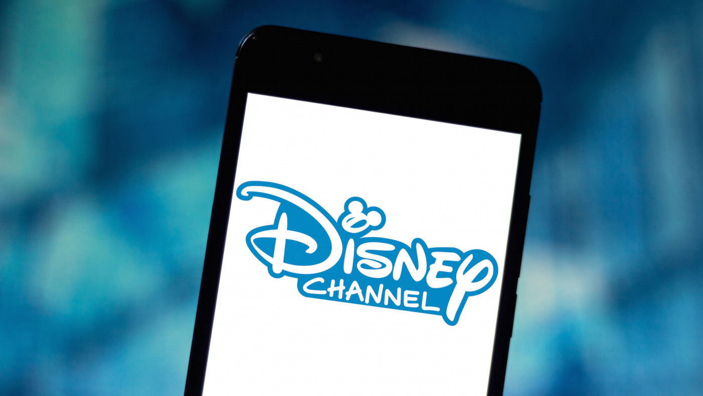 In this photo illustration the Disney Channel logo