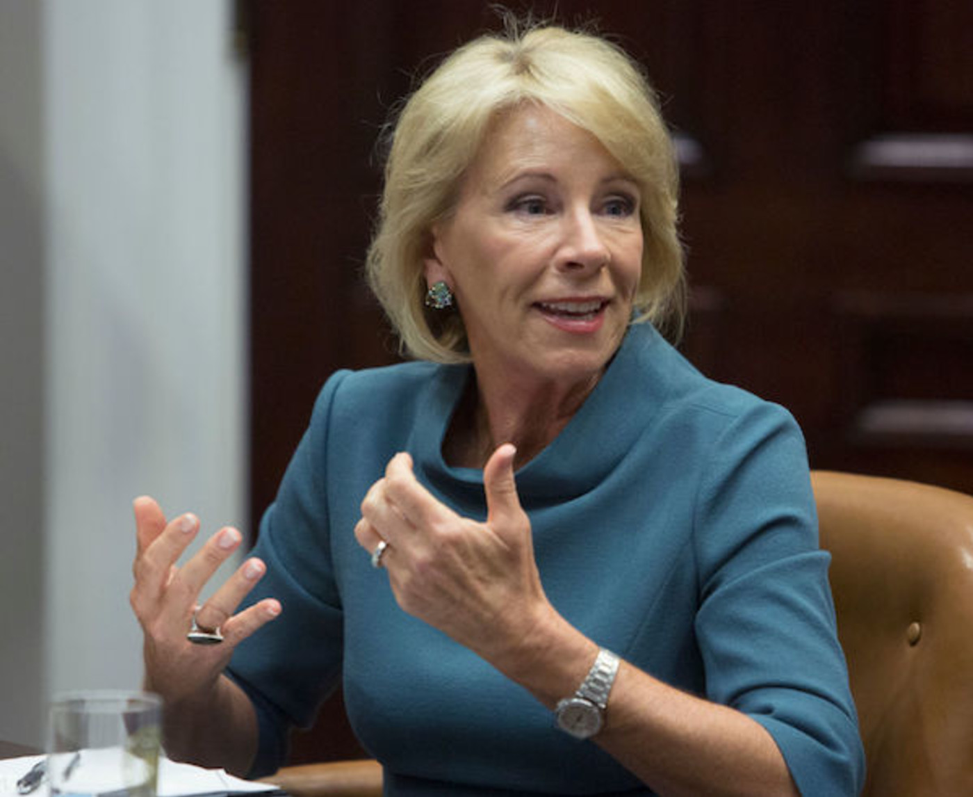 This is a picture of Betsy DeVos.