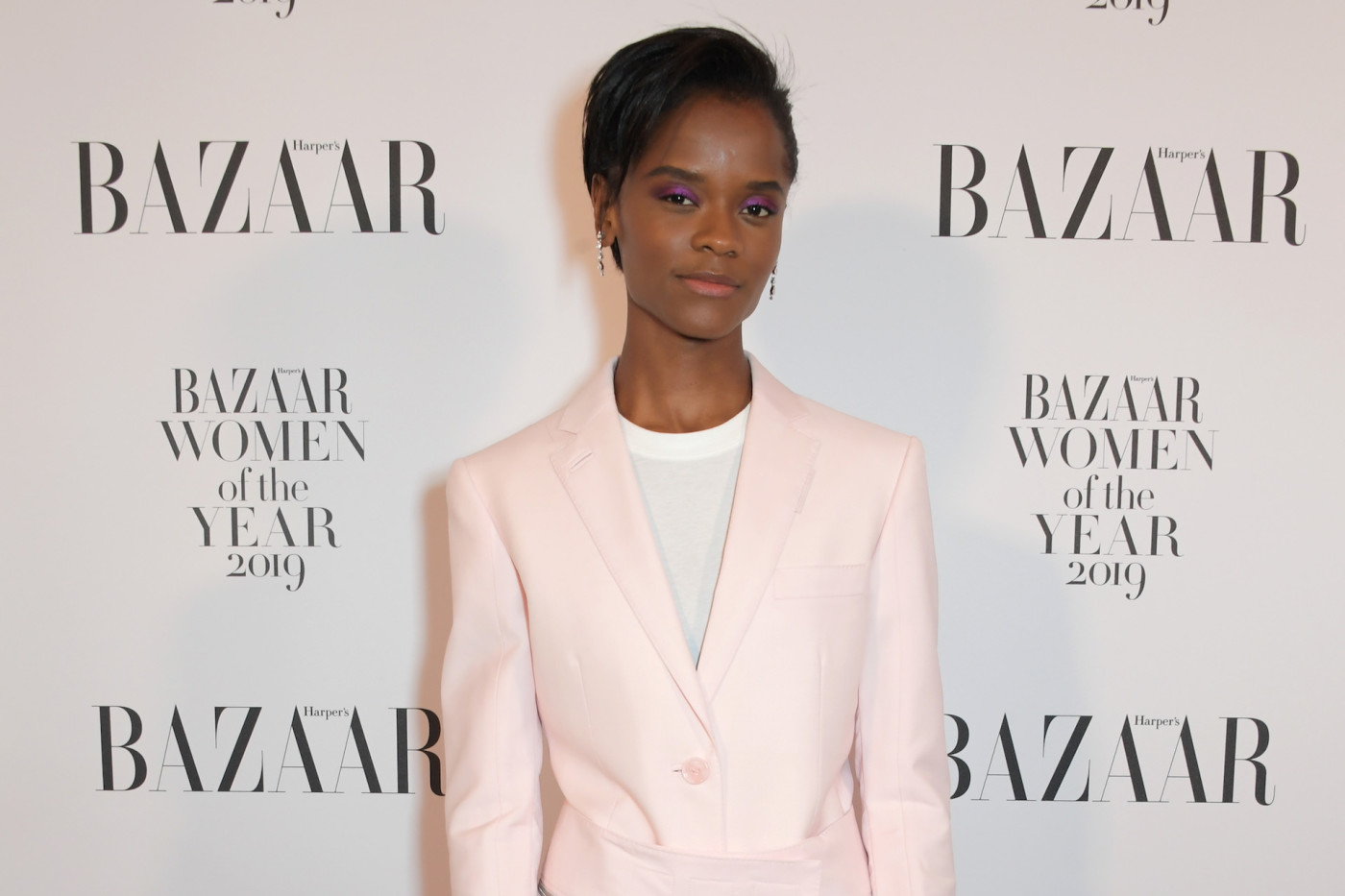 Letitia Wright attends the Harper's Bazaar Women of the Year Awards 2019.