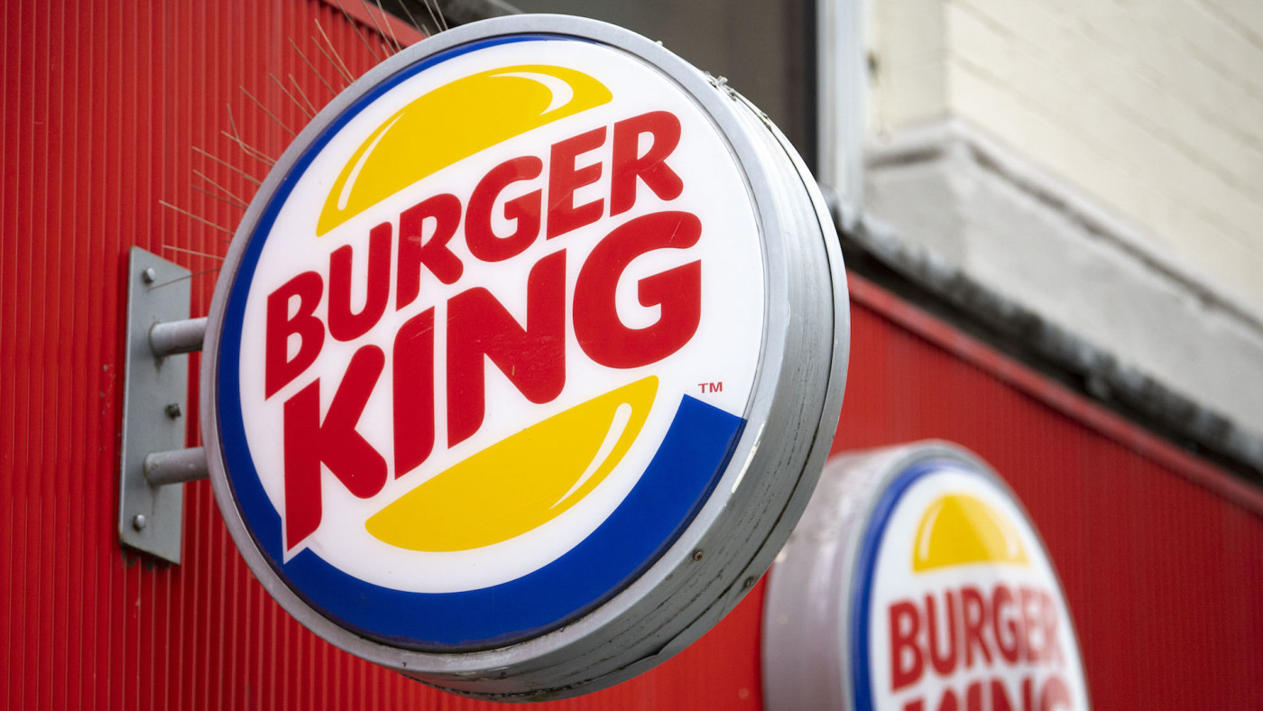 A close-up of a Burger King sign on July 09, 2020 in Cardiff, United Kingdom